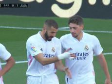 Valverde segna la prima rete. Movistar/LaLiga