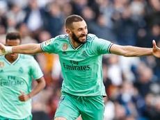 Jogando de verde o Real Madrid vence o Espanyol no Bernabéu. Twitter/@realmadrid