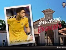 Bernabé Barragán, nuevo portero del Albacete. Twitter/AlbaceteBPSAD
