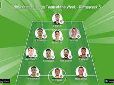 BeSoccer's LaLiga Team of the Week for Gameweek 5 of the 2018/19 season. BeSoccer