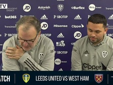 Bielsa sur l'Athletic Bilbao. Captura/LUFC