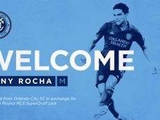 Tony Rocha fichó por el New York City. NYCFC