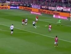 Bojan logró su primer tanto en la Bundesliga ante el Bayern. Youtube