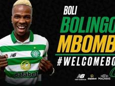 Mbombo jugará la siguiente temporada en el Celtic. Twitter/CelticFC