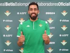 Borja Iglesias  a effectué son premier entraînement. Twitter/RealBetisBalompié