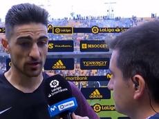 Borja López contó lo que le dijo el árbitro. Captura/Movistar