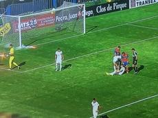 Los incidentes que pusieron en riesgo la semifinal de Copa Chile. Captura/CDF_cl