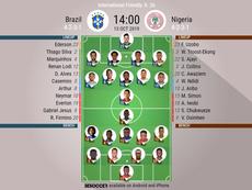 Brazil v Nigeria!  EFE/Wallace Woon/Archivo