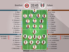 Brentford v Fulham. Championship playoff final, 04/08/2020. Official-line-ups. BeSoccer
