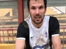 O jogador atuava no Marsonia da 3ª divisão. Instagram