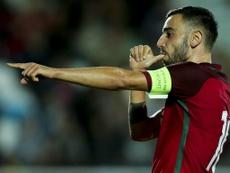 Bruno Fernandes a bien fêté la victoire du Portugal à l'Euro. Twitter
