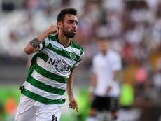 Sporting avança com show de Bruno Fernandes. Twitter/Maisfutebol