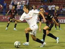 Bryan Gil aprovecha sus minutos. Twitter/SevillaFC