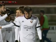 Osasuna goleó al Olot en Copa del Rey. Captura/DAZN
