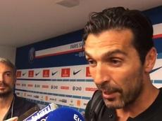 Buffon habló tras el PSG-Caen. Twitter/GoalFrance