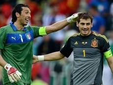 L'émouvant message de Buffon à Iker Casillas. afp