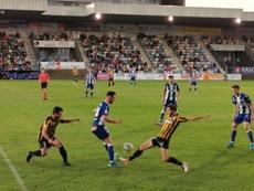 El Barakaldo venció en los penaltis al Alavés. Twitter/barakaoficial