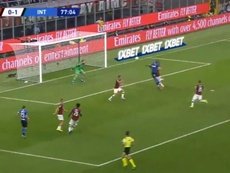 Lukaku double la mise. Capture/InterLukaku