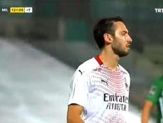 El partido se decidió en los penaltis. Captura/TRTSpor