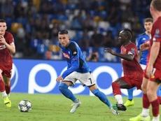 El fútbol chino quiere pescar en el Nápoles. Twitter/sscnapoli