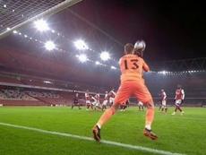 Lo que le faltaba a Arteta: cantadón de Runarsson y gol de Mahrez. Captura/DAZN