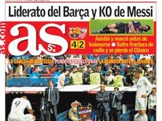 Capa do jornal 'AS' de 21-10-18. AS