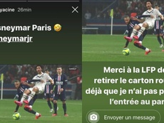 Yacine Adli quiso echar un cable a Neymar. Instagram/adliyacine