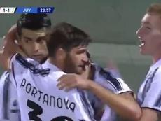 Morata puso el 1-1 en el marcador. Captura/MovistarLigadeCampeones