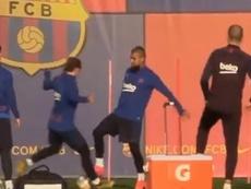 Arturo Vidal presumió de caño a Griezmann. Captura/KingArturo23