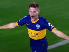 Soldano firmó pero no pudo entrenar con Boca. Captura/AFA