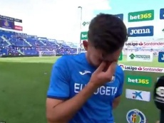 Hugo Duro rompió a llorar. Captura/beINSports