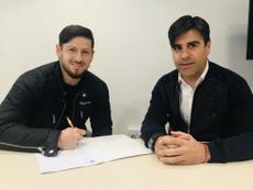 Acuña ya es nuevo jugador del Albacete. Captura/Albacete