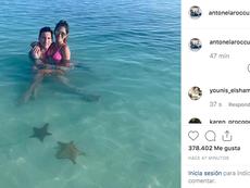 Messi y Antonela, rodeado de estrellas. Instagram/AntonelaRoccuzzo