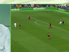Benzema explicó el gol que le metió a Karius. Captura/RMTV