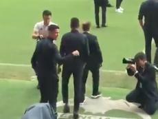 Cristiano fue aclamado a su llegada a Valencia. Captura
