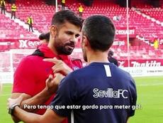 Costa vaciló sobre su actual situación de cara a portería. Captura/Vamos