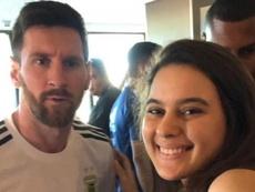 Fernanda estudió 10 años español para poder hablar con Messi. Captura/Ole