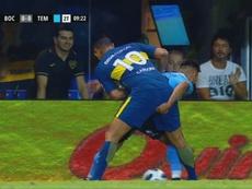 Figueroa le metió el dedo a Cardona. Captura/TyCSports