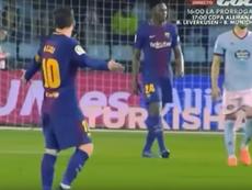 Messi le echó la bronca a Yerry Mina. Captura/GOL