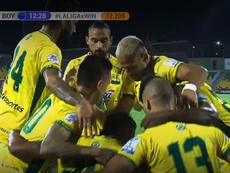 Gran victoria de Bucaramanga. Captura/WINSports