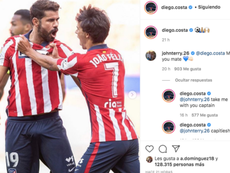Costa intercambió guiños con Terry. Instagram/Diego.Costa