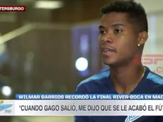 Barrios se acordó de la fatídica noche ante River en Madrid. Captura/ESPN