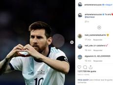 Antonella se acordó de Messi. Instagram/Antonella