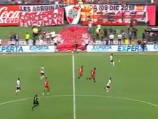 Una pancarta especial tras el vídeo viral de Pablo Pérez. Captura