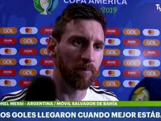 Messi croit que l'Argentine mérite plus. Capture/TyCSports