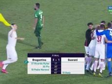 Bragantino asciende al Brasileirao. Captura/SporTV