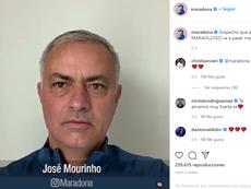 Maradona publicó un mensaje con mensajes de felicitación. Instagram/Maradona