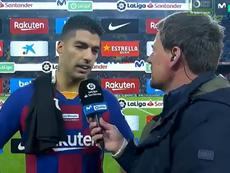 Suárez considera o gol de calcanhar o mais bonito de sua careira. Captura/MovistarLaLiga