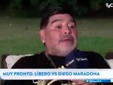 Nueva perla de Maradona. Captura/TyCSports