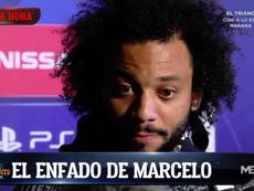 Marcelo pasí por zona mixta y defendió al equipo de las críticas. Captura/ElChiringuito